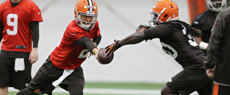 Johnny Manziel Browns Practice