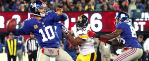NY Giants Eli Manning Pittsburgh Steelers