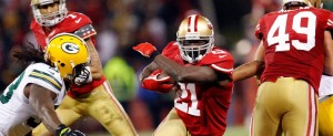 San Francisco 49ers Frank Gore against Packers