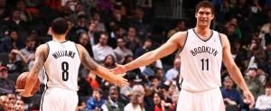 Brooklyn Nets Deron Williams Brook Lopez