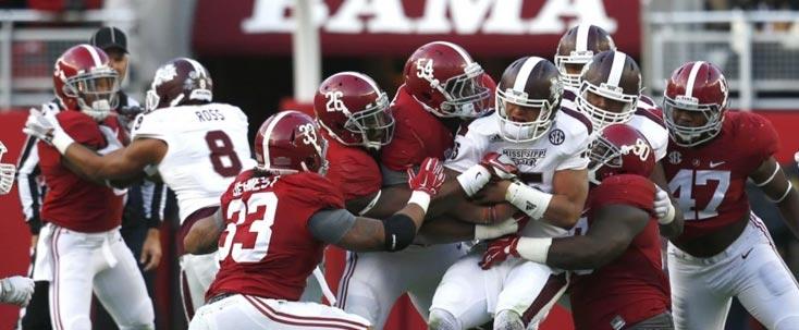 Mississippi State Bulldogs Alabama Crimson Tide