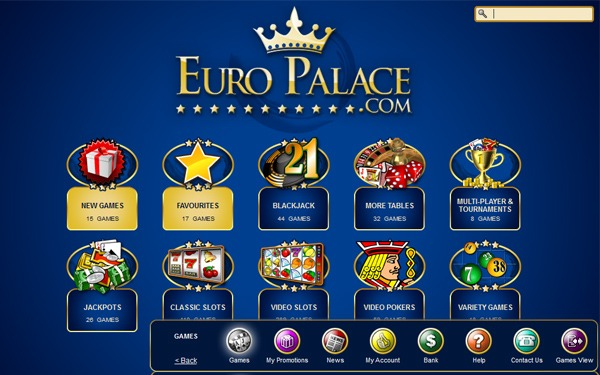 Play the best online casino games | Euro Palace
