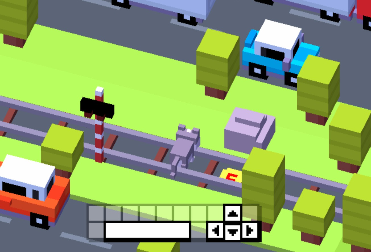 Crossy road game objective