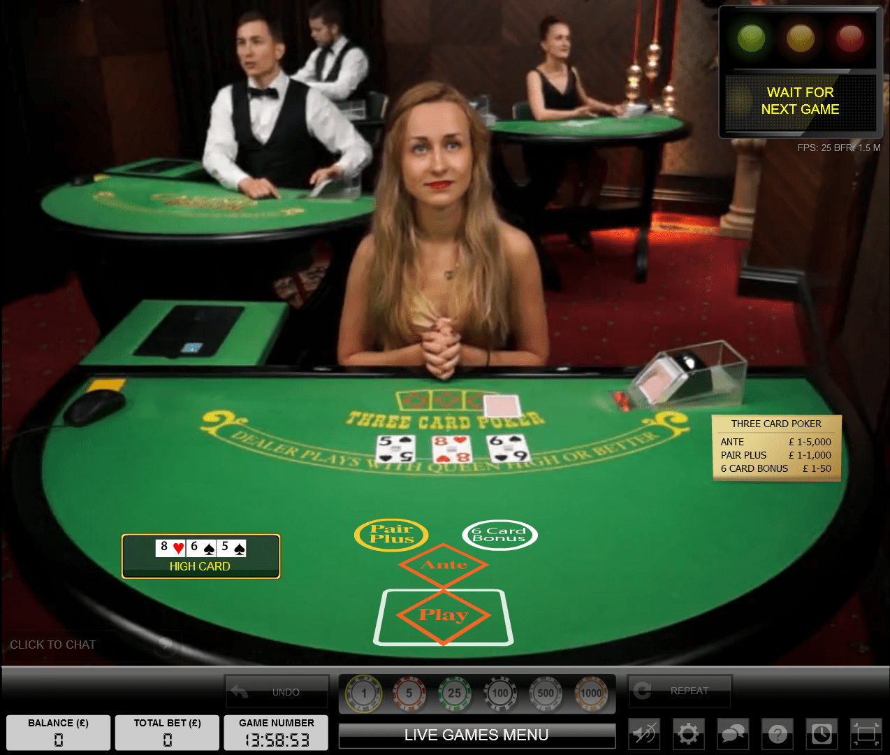 888 Casino Flash Game