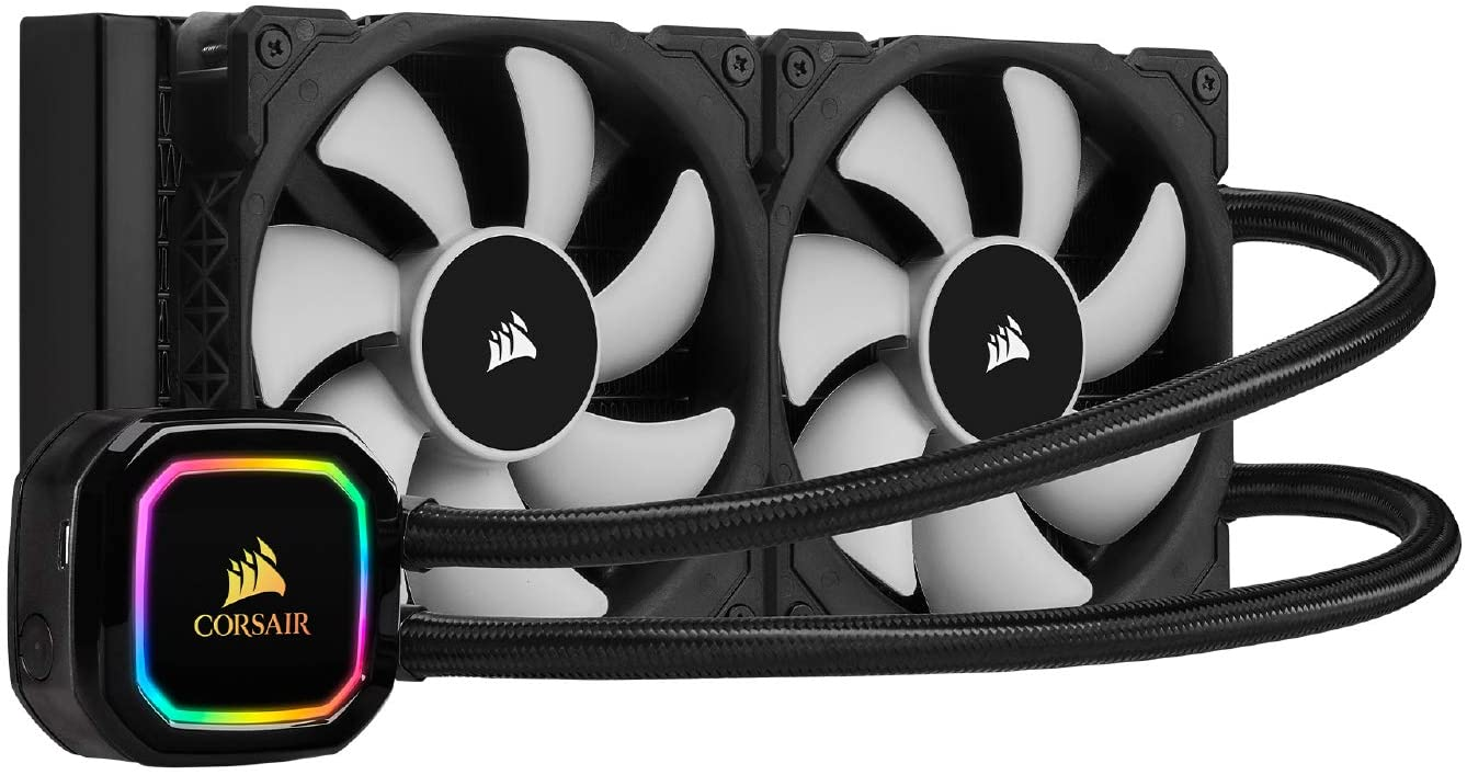 corsair icue h100i rgb pro xt 240mm radiator dual 120mm pwm fans software control liquid cpu cooler - corsair-icue-h100i-rgb-pro-xt-240mm-radiator-dual-120mm-pwm-fans-software-control-liquid-cpu-cooler
