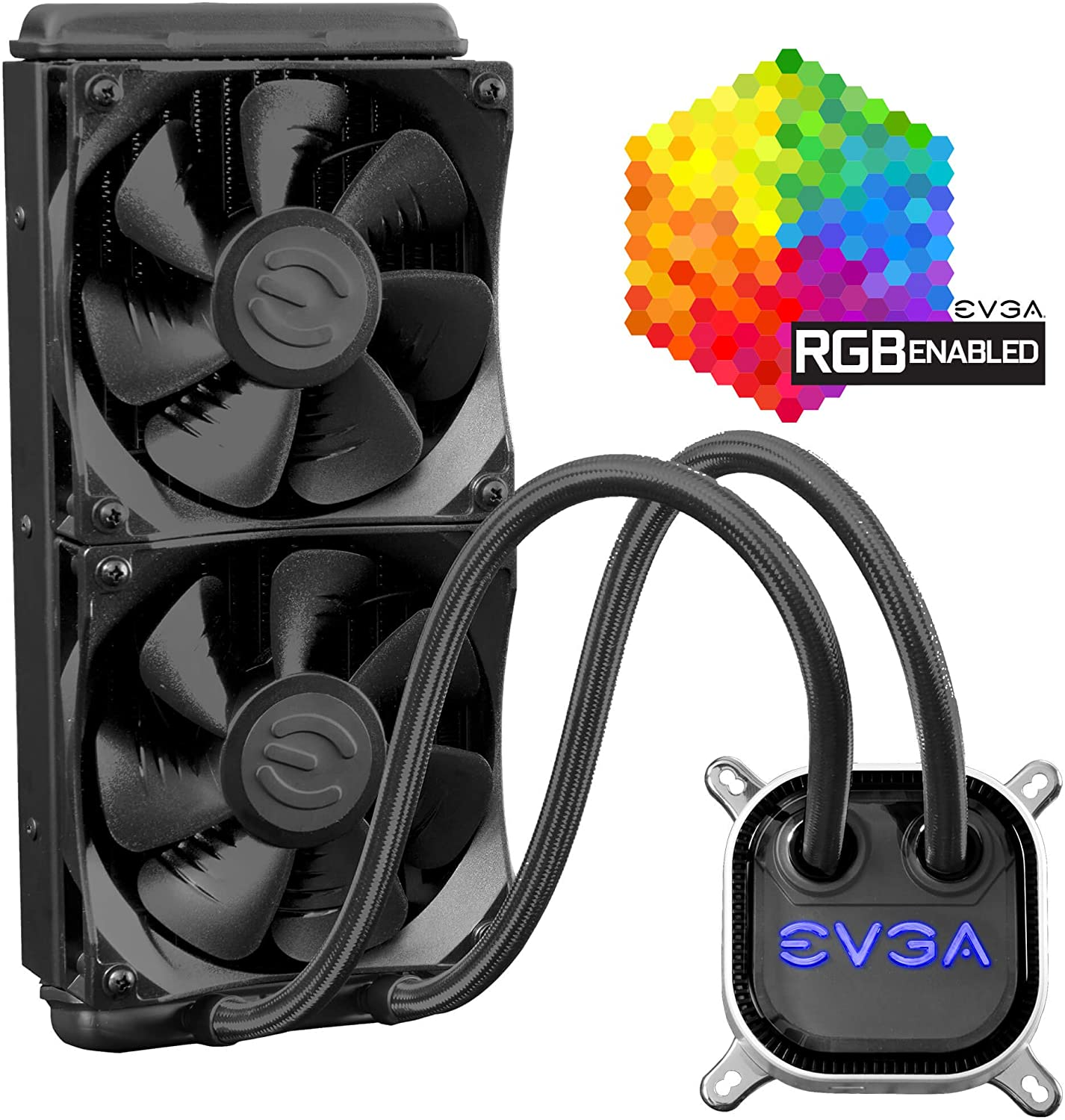 evga clc 280mm all in one rgb led cpu liquid cooler 2x fx13 140mm pwm fans intel amd 5 yr warranty 400 hy cl28 v1 - evga-clc-280mm-all-in-one-rgb-led-cpu-liquid-cooler-2x-fx13-140mm-pwm-fans-intel-amd-5-yr-warranty-400-hy-cl28-v1