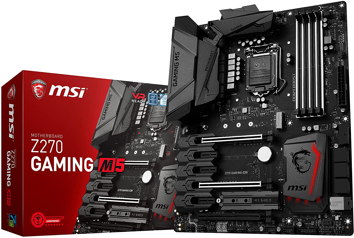 msi enthusiastic gaming intel z270 ddr4 vr ready hdmi usb 3 atx motherboard z270 gaming m5 - msi-enthusiastic-gaming-intel-z270-ddr4-vr-ready-hdmi-usb-3-atx-motherboard-z270-gaming-m5