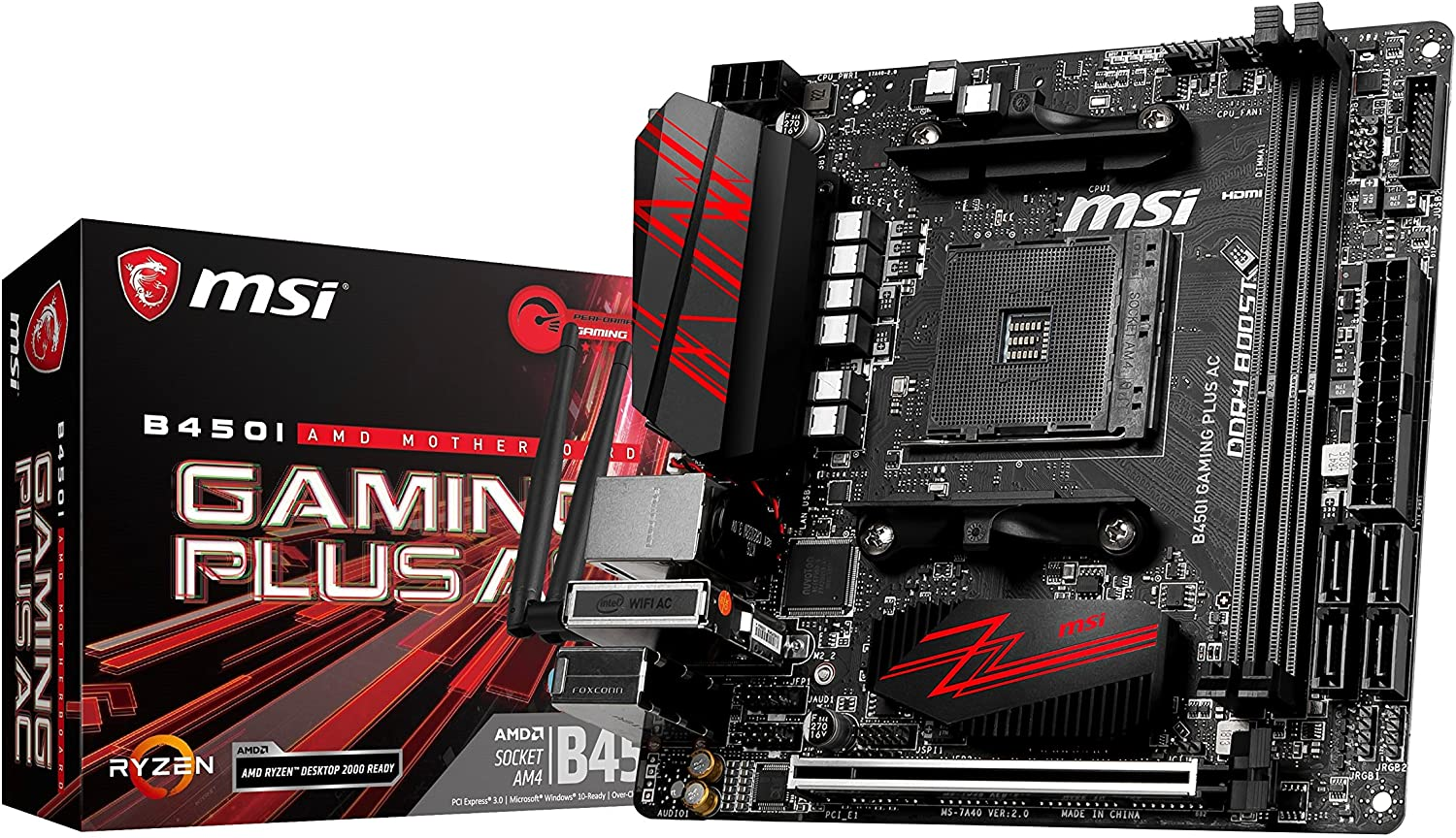 MSI B450I Gaming Plus AC Socket AM4 - MSI-B450I-Gaming-Plus-AC-Socket-AM4